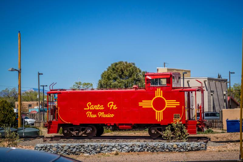 Ett järnväg transportsystem i Santa Fe som är ny - Mexiko royaltyfri fotografi