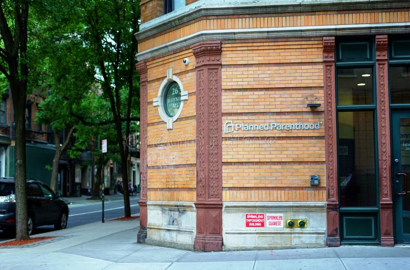 Ett kontor av Planned föräldraskap i New York City arkivbilder