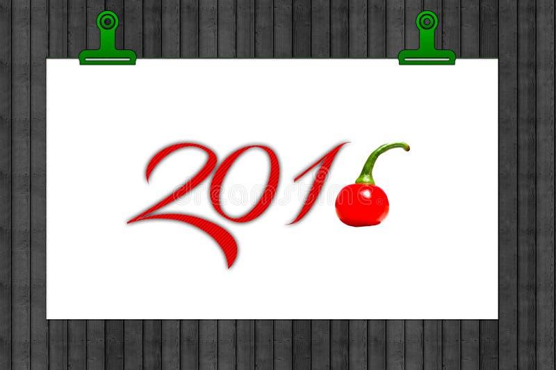 Ett kryddigt nytt år stock illustrationer