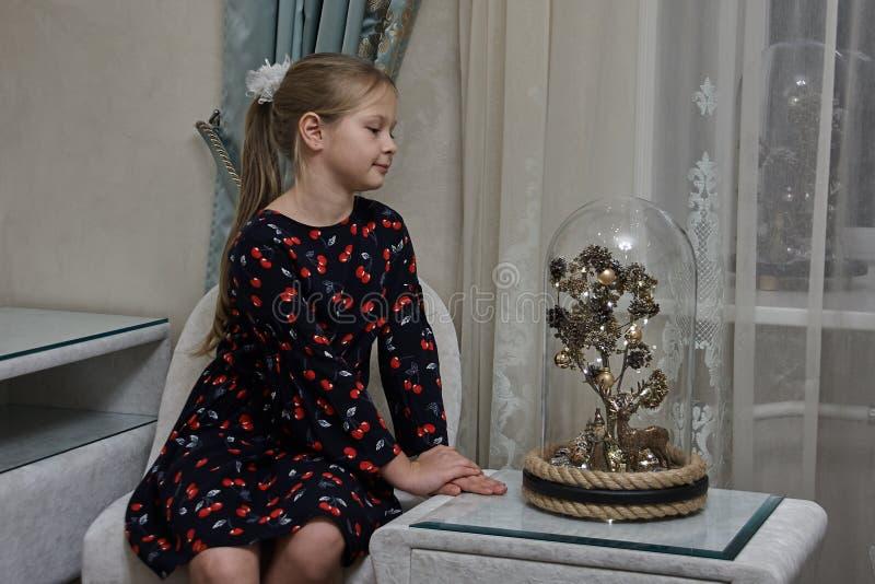 Ett magiskt träd under en exponeringsglaskupol fotografering för bildbyråer