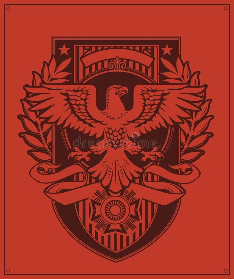 Örnemblemdesign royaltyfri illustrationer