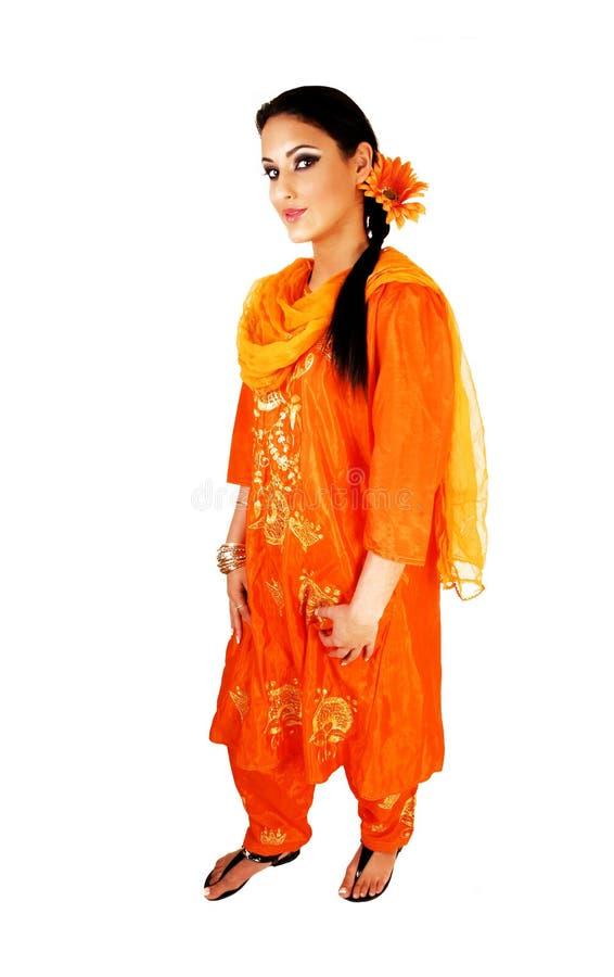 Nätt indisk flicka. arkivfoto