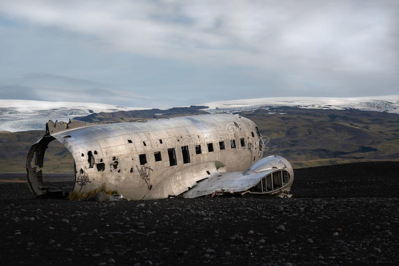 Ett olikt skott av haveriet DC-30 royaltyfri bild