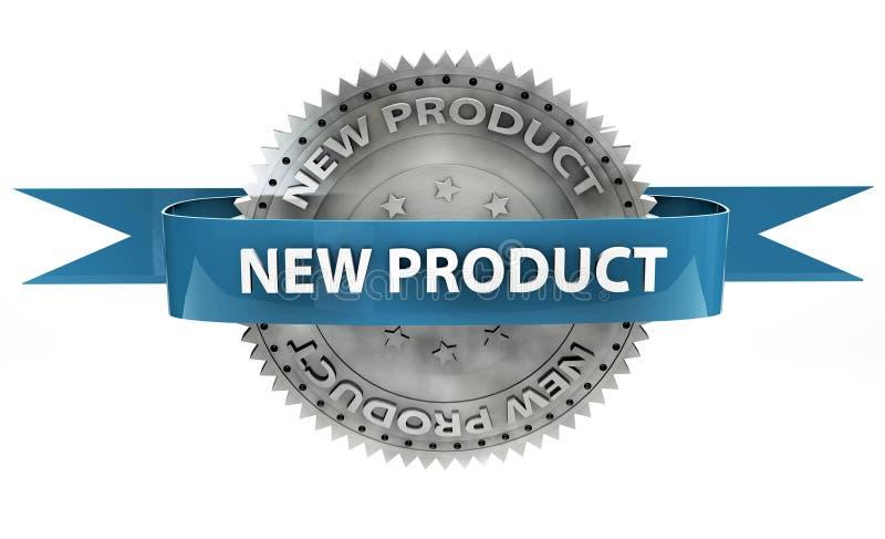 Ett ord för produkt 3d på en vit bakgrund stock illustrationer