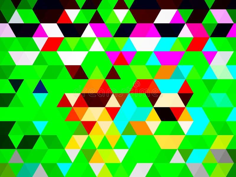 Ett ovanligt glamoröst digitalt triangelmönster stock illustrationer