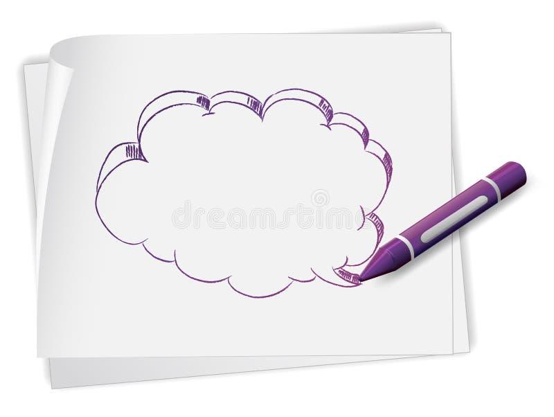 Ett papper med en teckning av en tom callout vektor illustrationer