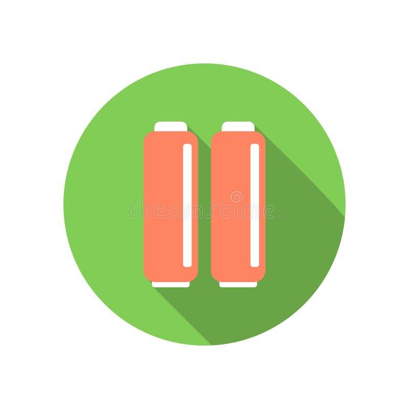 Ett par av batterier sänker symbolen stock illustrationer