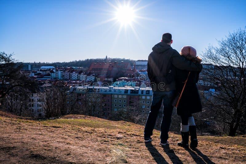 Ett par förbiser härliga Göteborg arkivfoton