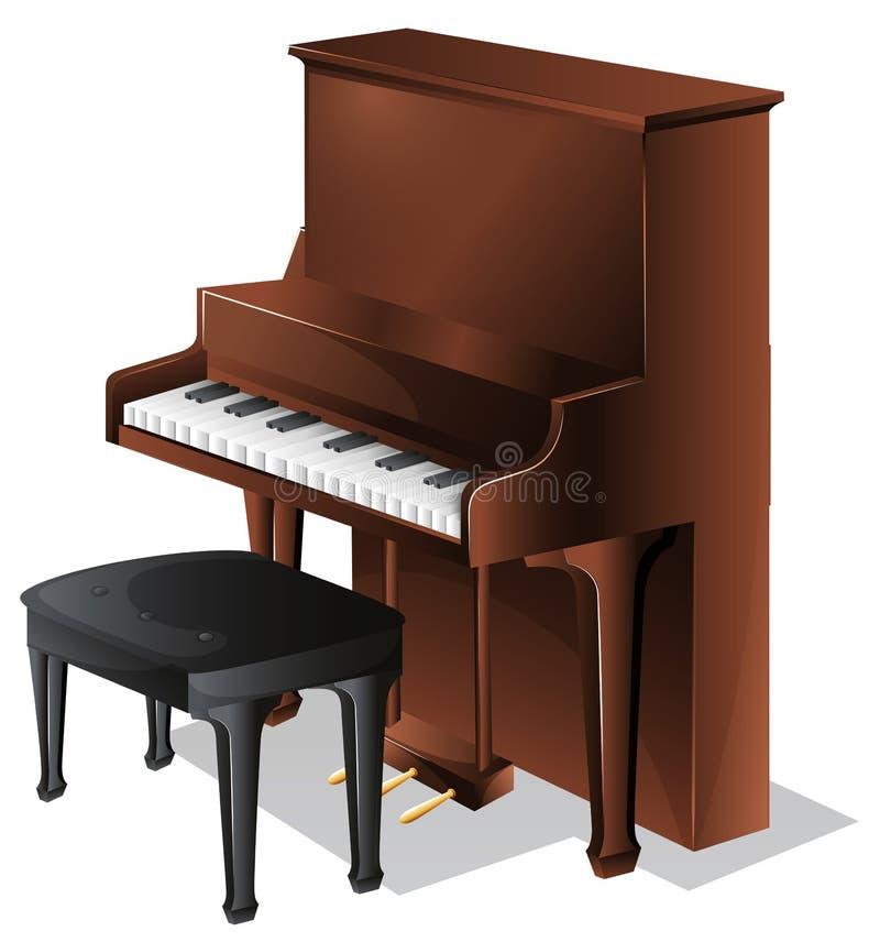 Ett piano stock illustrationer