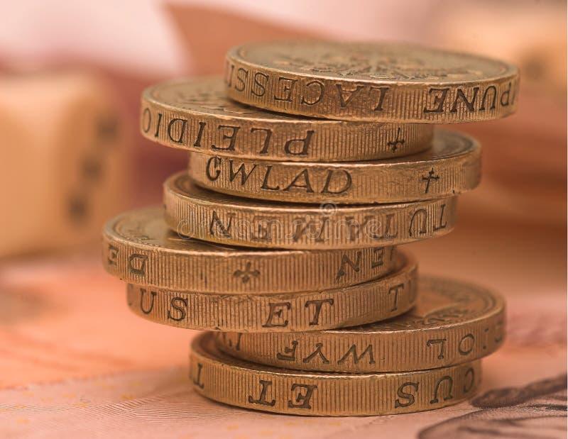 ett pund sterling uk royaltyfri bild