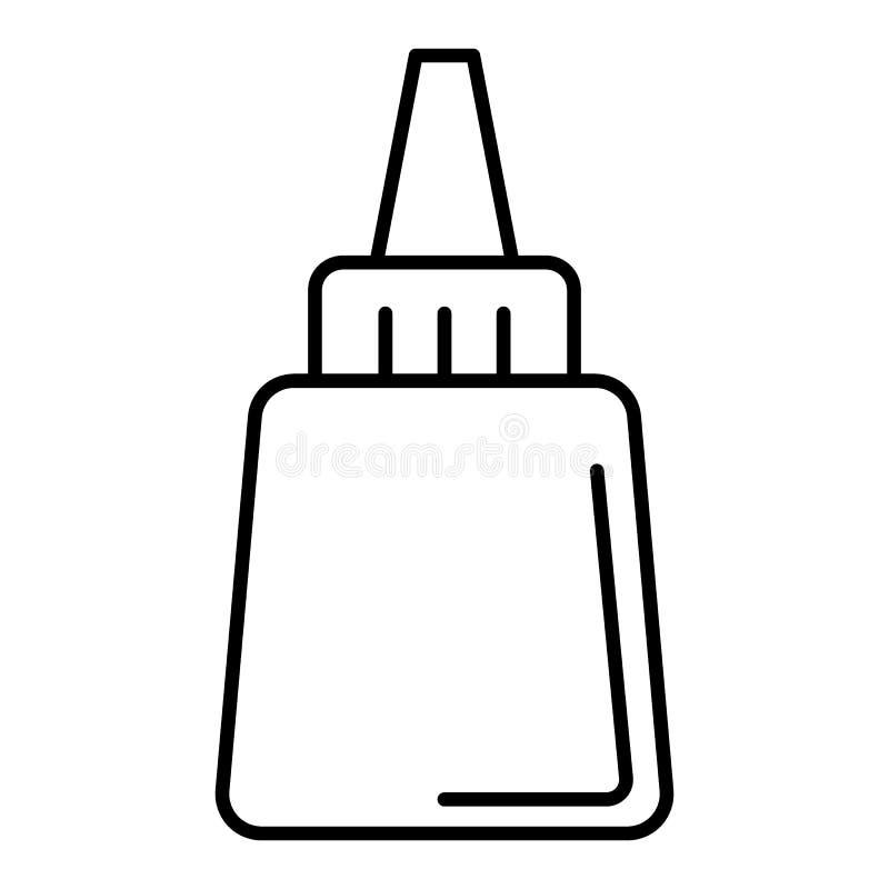 Ett rör av den kräm- vektorsymbolen Beståndsdel av flaskan för mobila begrepps- och rengöringsdukapps Plan översiktssymbol Isoler stock illustrationer