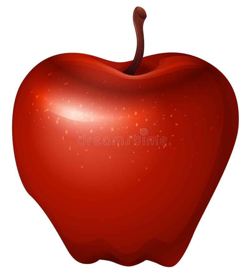 Ett rött frasigt äpple vektor illustrationer