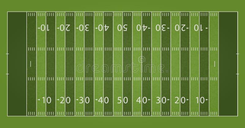 Ett realistiskt texturerat fält för gräsfotbollfotboll Mappen innehåller stordior royaltyfri illustrationer