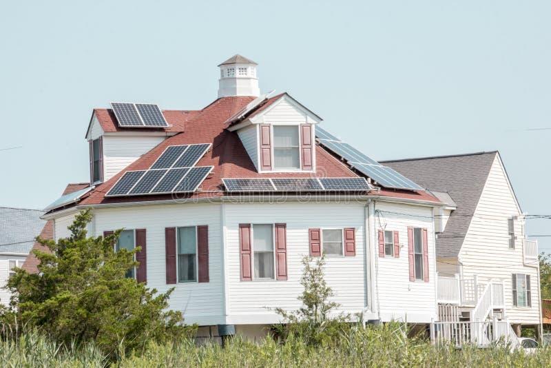 Ett runt hus vid kusten i Delaware royaltyfri bild