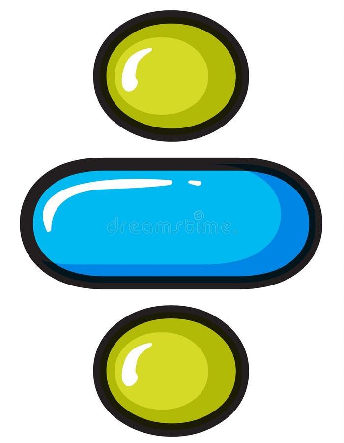 Ett skiljelinjesymbol stock illustrationer
