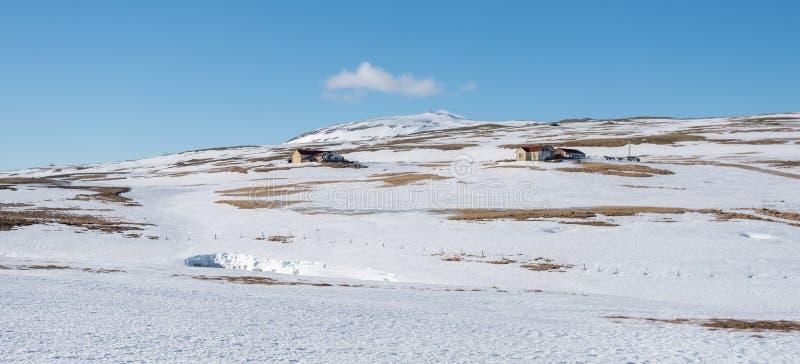 Ett snowwhite rular område arkivbilder