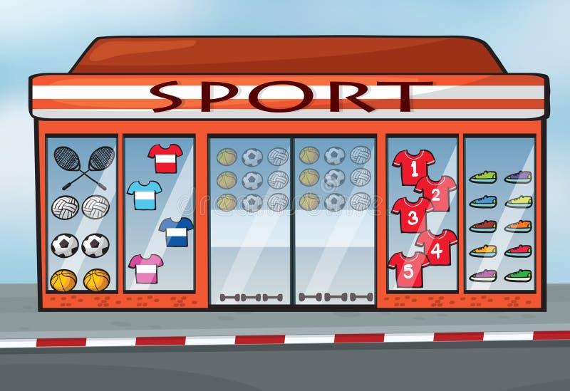 Ett sportlager royaltyfri illustrationer