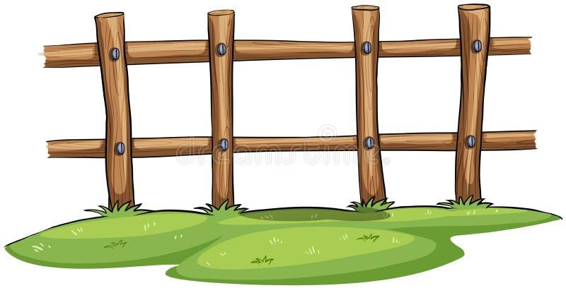 Ett staket stock illustrationer