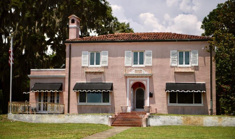 Ett storslaget medelhavs- hus arkivfoto