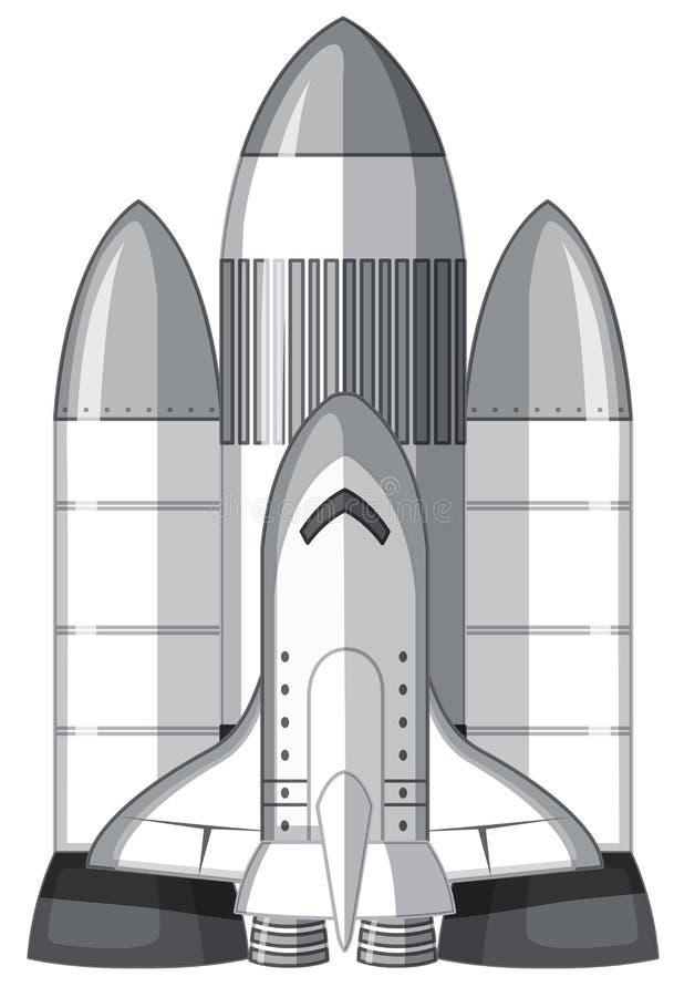 Ett stort anslutningsraketskepp stock illustrationer