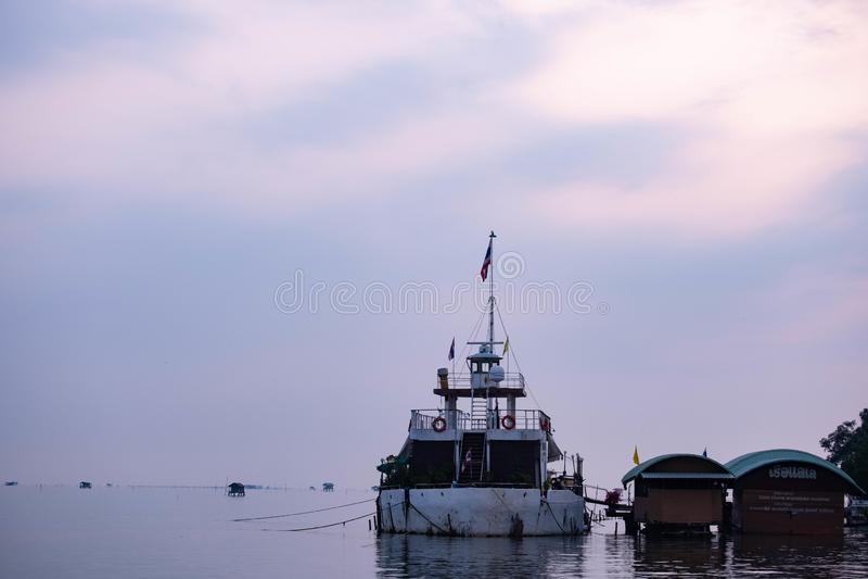 Ett stort fartyg arkivbilder