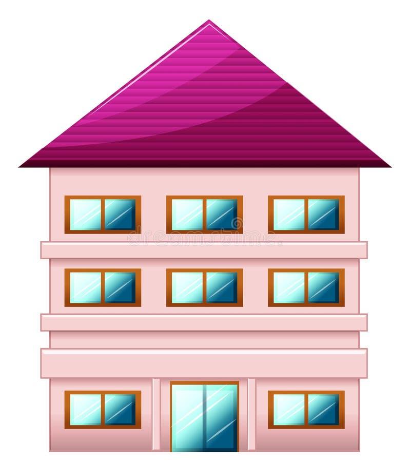 Ett stort tre-berättelse hus vektor illustrationer