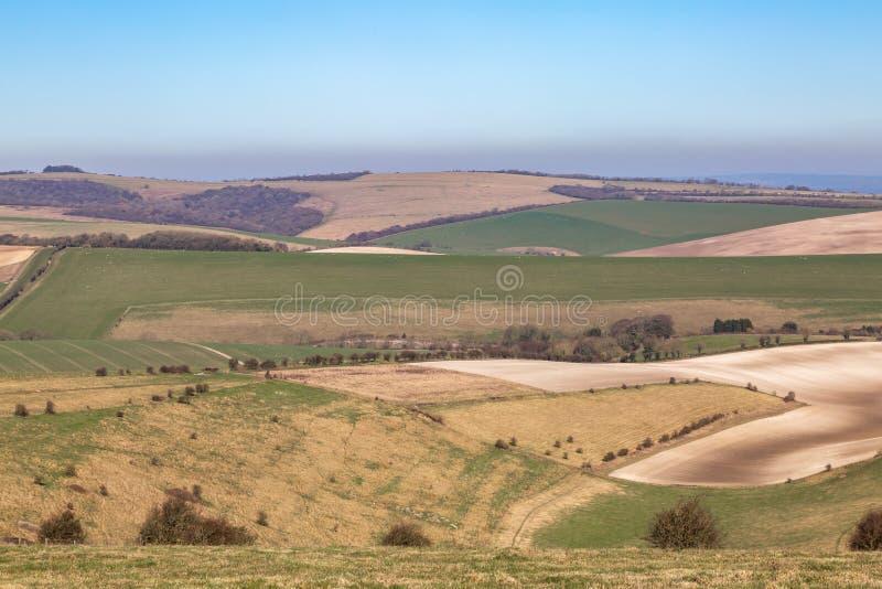 Ett Sussex patchworklandskap royaltyfria foton