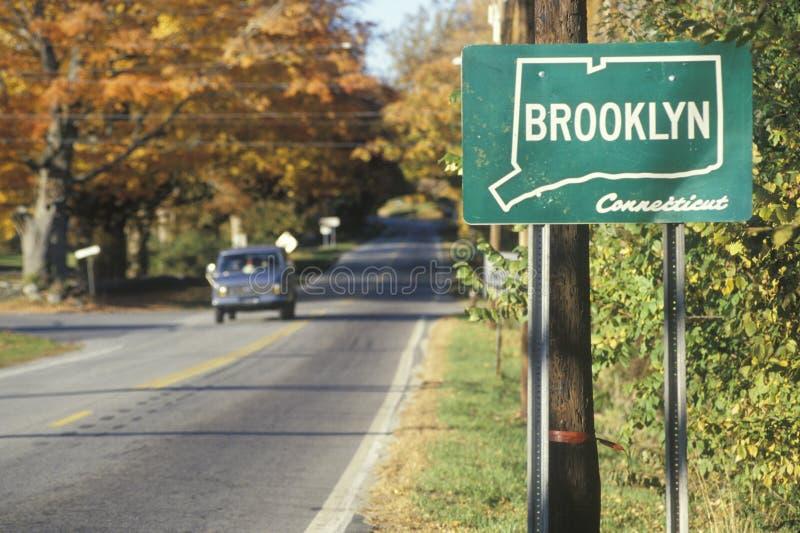 Ett tecken för Brooklyn royaltyfria foton