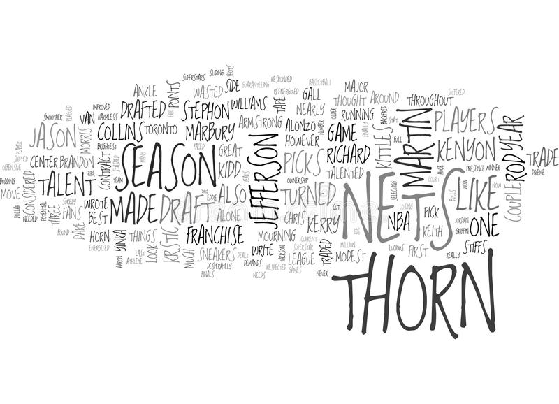 Ett Thorn On Their Side Word moln vektor illustrationer