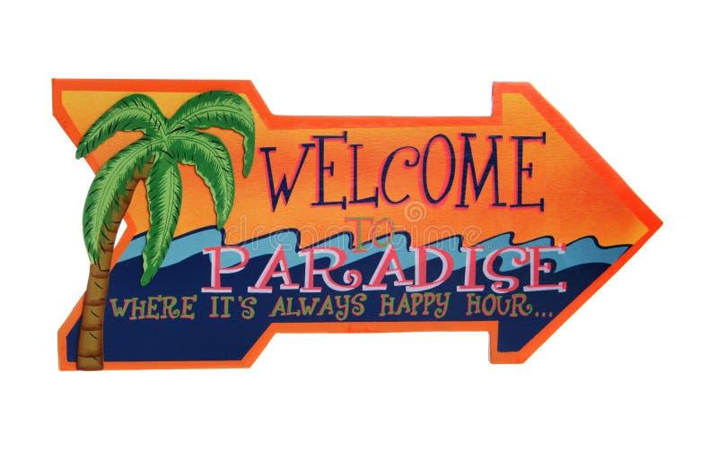 Ett tropiskt välkommet tecken royaltyfri bild