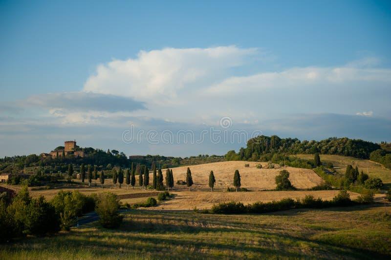 Ett Tuscan slott fotografering för bildbyråer