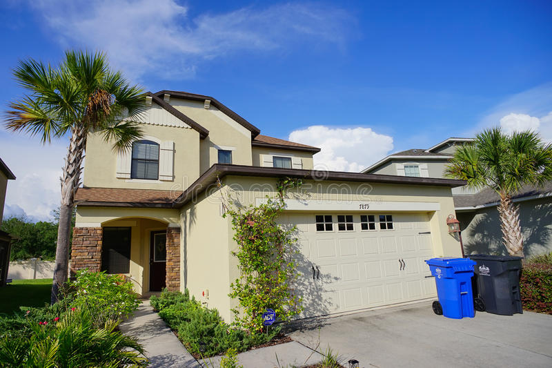 Ett typisk hus i Florida arkivbild