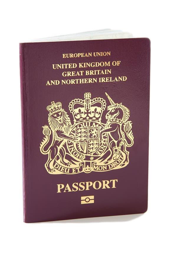 Uk-pass arkivbild