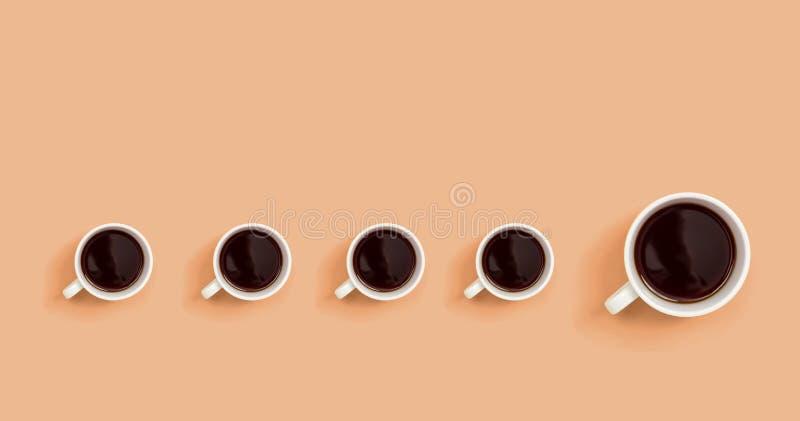 Ett ut unikt begrepp för kaffekopp royaltyfri illustrationer
