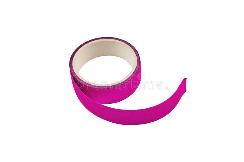 Ett violett självhäftande pappers- band för för ferieatt förpacka eller reparation royaltyfria foton