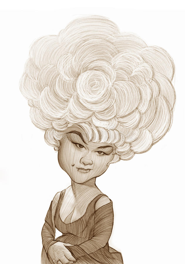 Etta James Caricature sketch. For editorial use