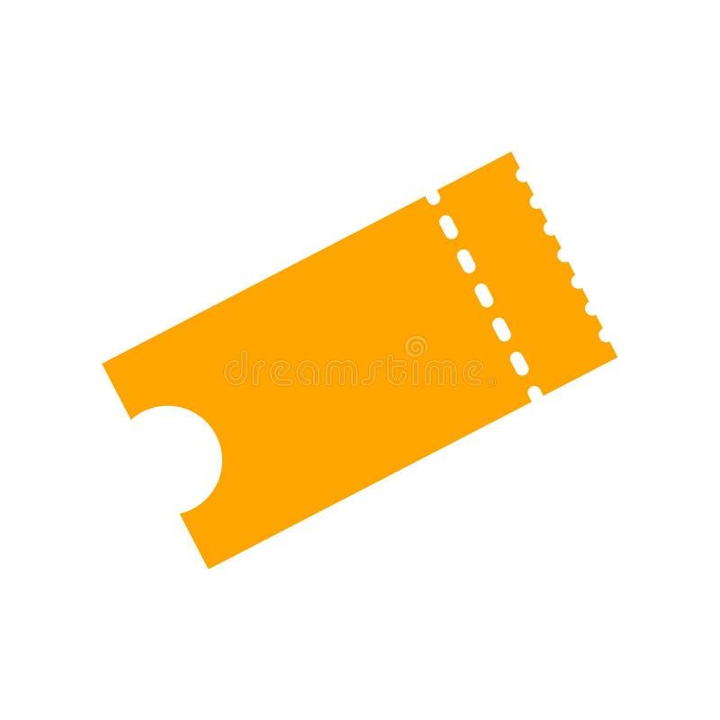 Ettichetti l'illustrazione di vettore dell'icona nello stile piano Troncone di biglietto isolato su un fondo Retro biglietti di f illustrazione vettoriale