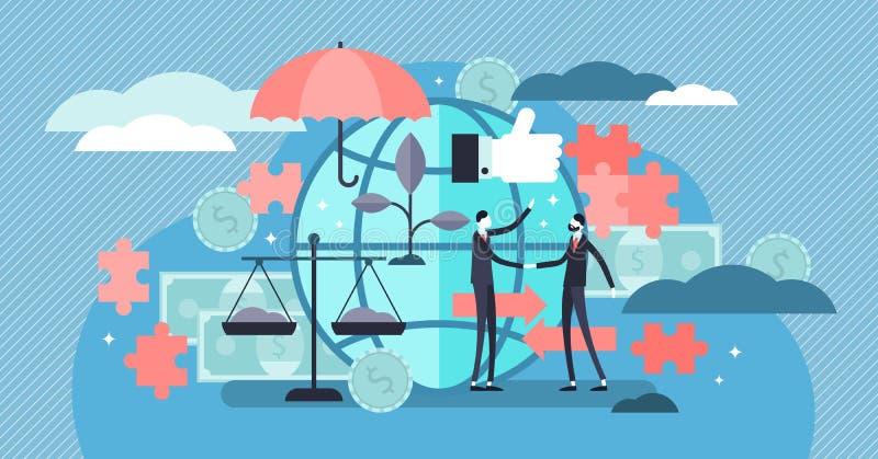 Etyczna marketingowa wektorowa ilustracja Płaski malutki odpowiedzialny osoby pojęcie ilustracja wektor