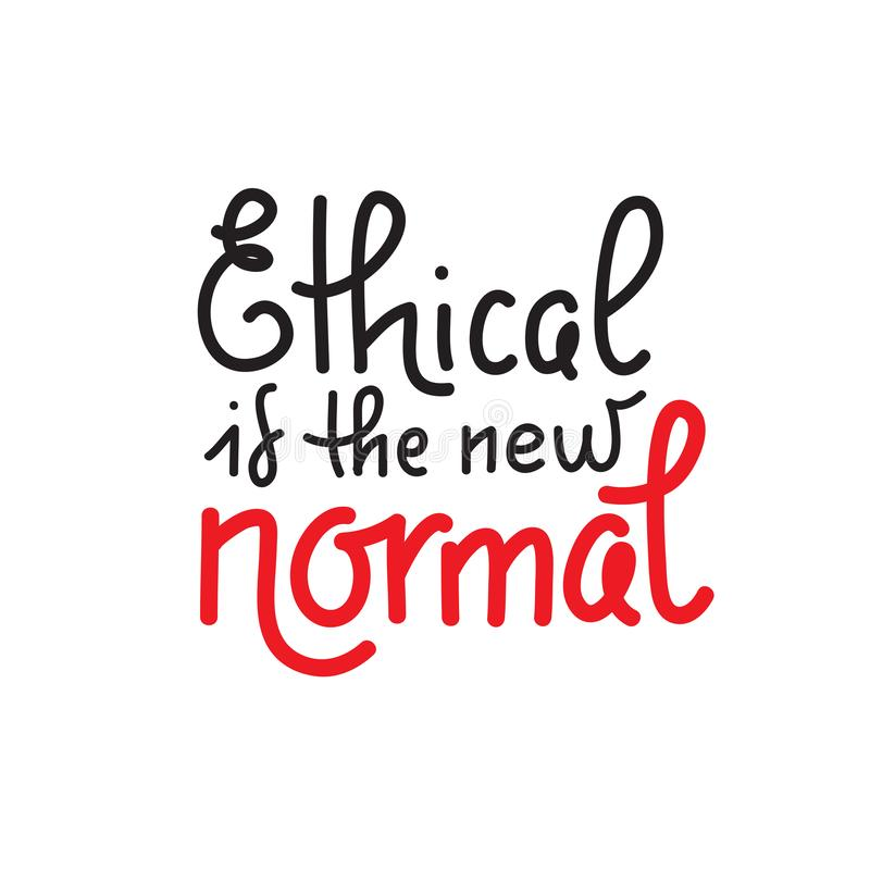 Etyczny jest nowy normalna - wektorowa wycena pisze list o eco ilustracja wektor
