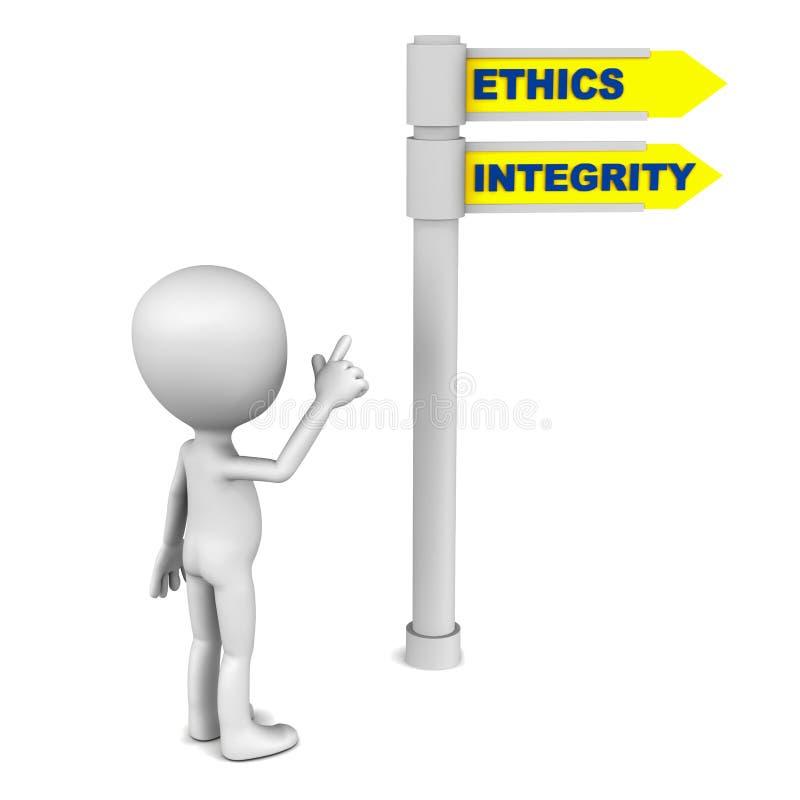 Etyki i prawość ilustracja wektor