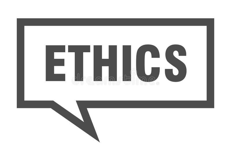 etyki mowy bąbel ilustracji