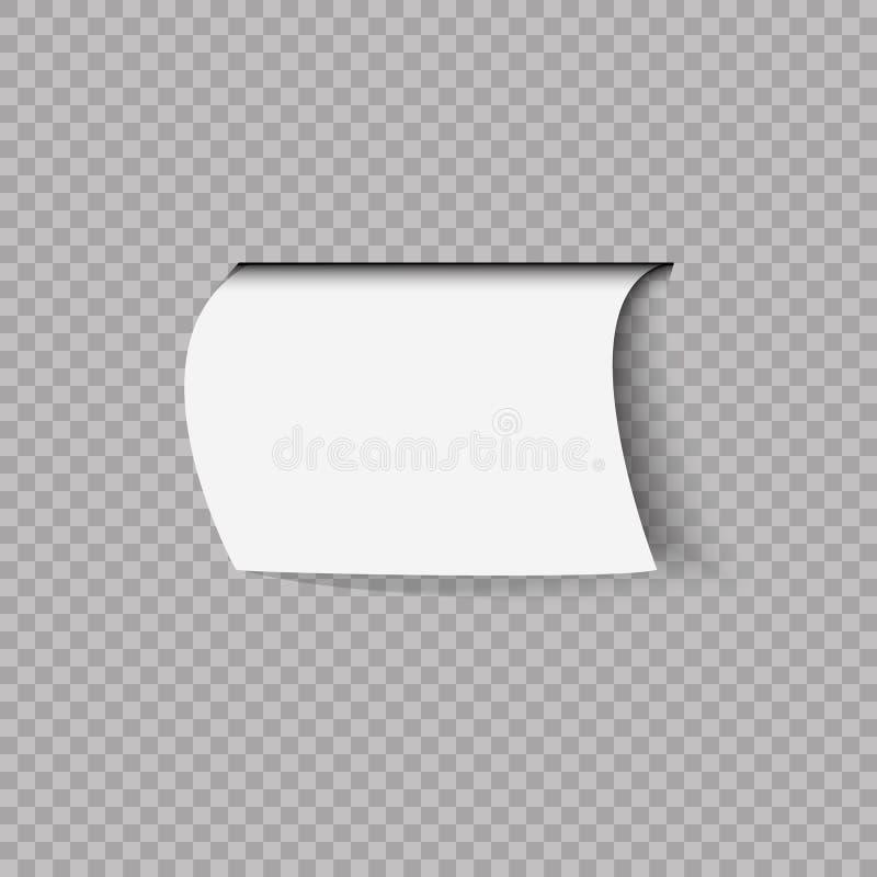 Etykieta lub odznaka 3d Ilustracja wektora transparentu obraz stock
