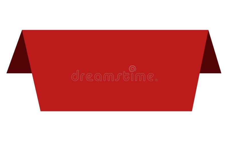 Etykietek i majcherów znak Czerwoni sztandary na białym tle royalty ilustracja