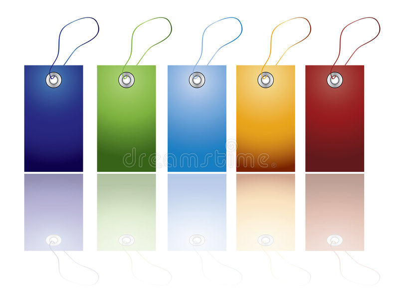 etykietka barwiony set ilustracja wektor