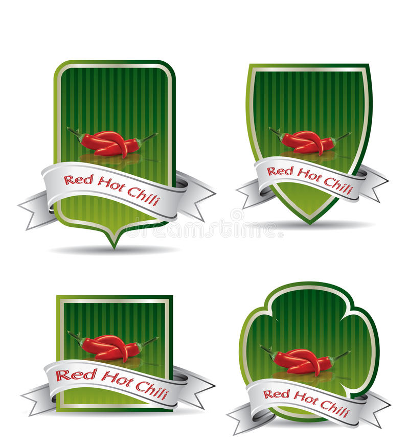 Etykietka dla produktu (chili kumberland) ilustracja wektor