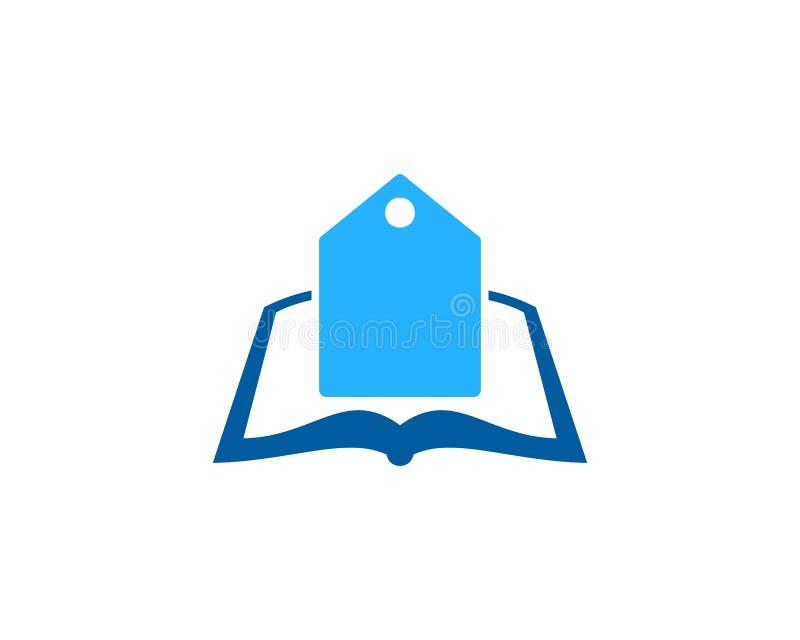 Etykietka loga ikony Książkowy projekt royalty ilustracja