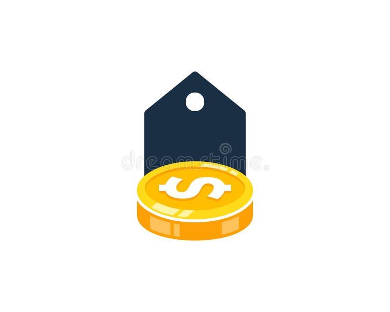Etykietka loga ikony Menniczy projekt ilustracja wektor