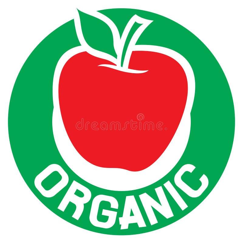 etykietka organicznie ilustracji