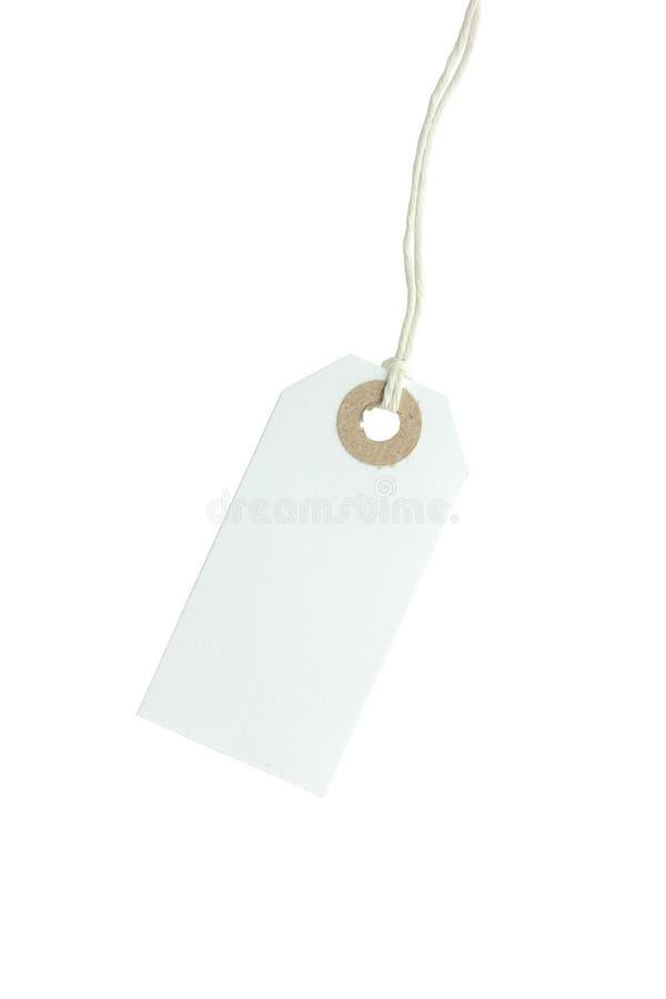 etykietka papierowy biel obraz royalty free