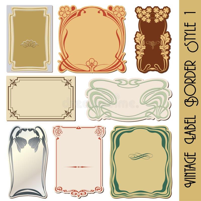 etykietka rocznik royalty ilustracja
